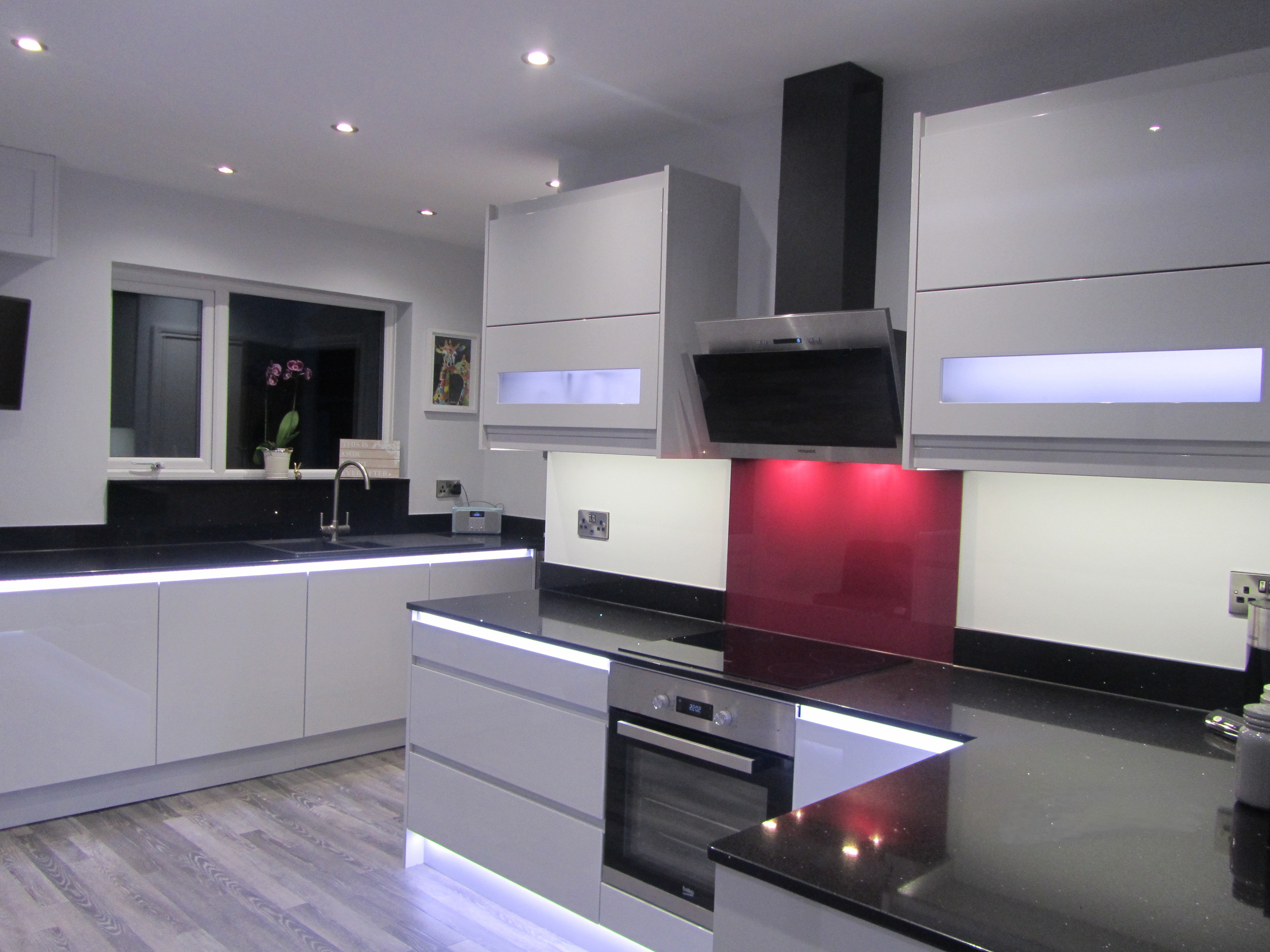 Hall Electricians  Modern Kitchen Lighting SpecialistsHall Electricians in Nottingham LED Effect Lighting jpg. Hall Lighting Uk. Home Design Ideas